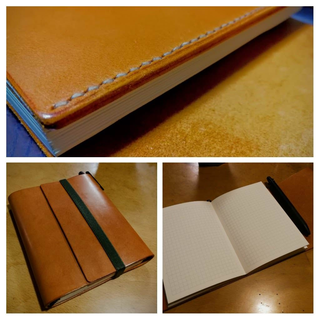 本ヌメ革キャメルを使用した手帳カバー|H様レザークラフト歴1カ月