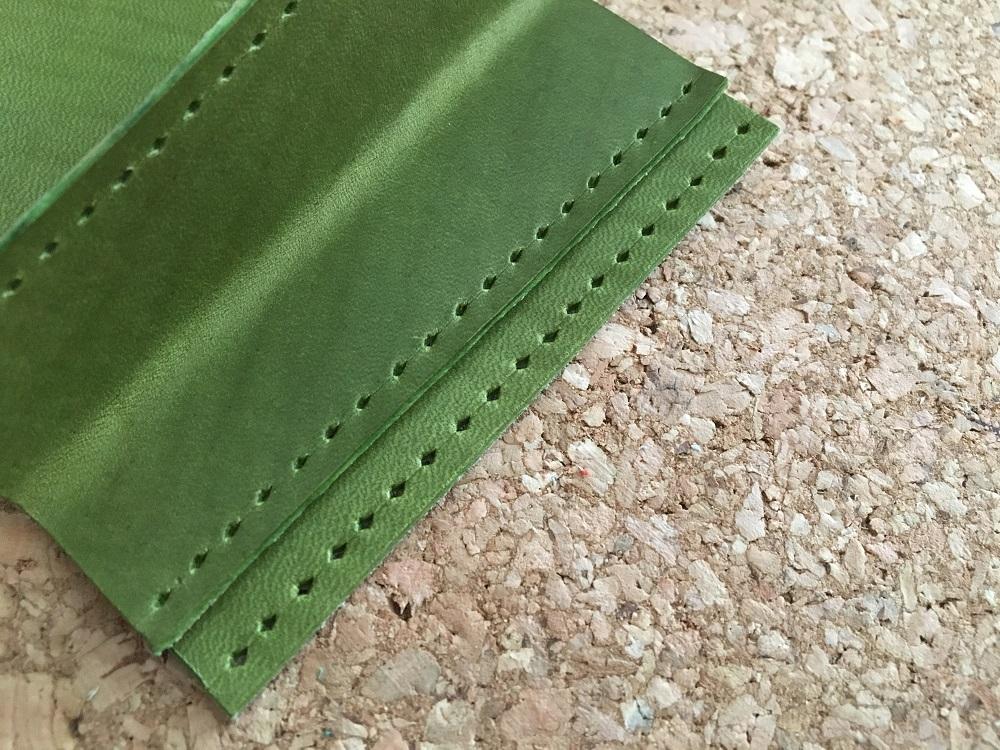 緑本ヌメ革の長財布29