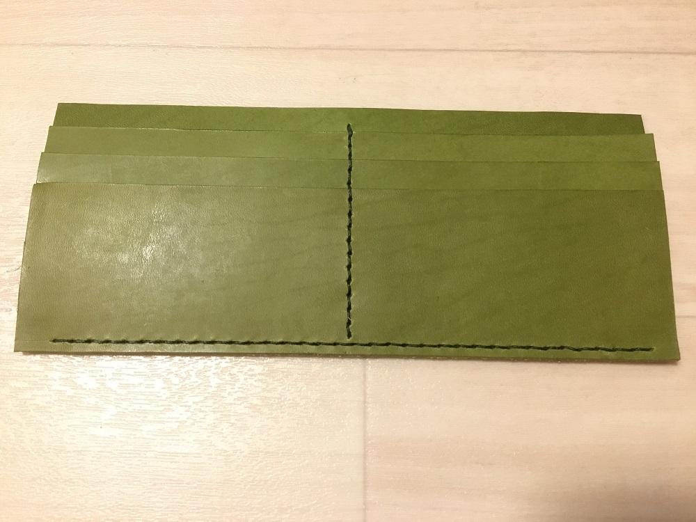 緑本ヌメ革の長財布23