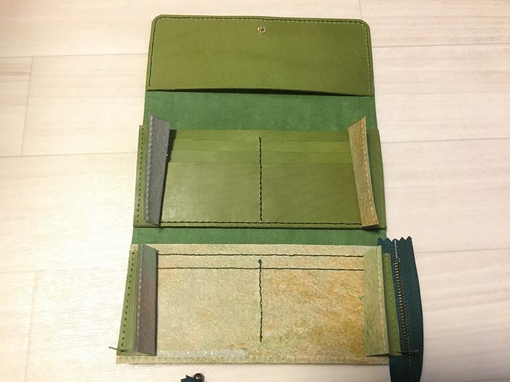 緑本ヌメ革の長財布54