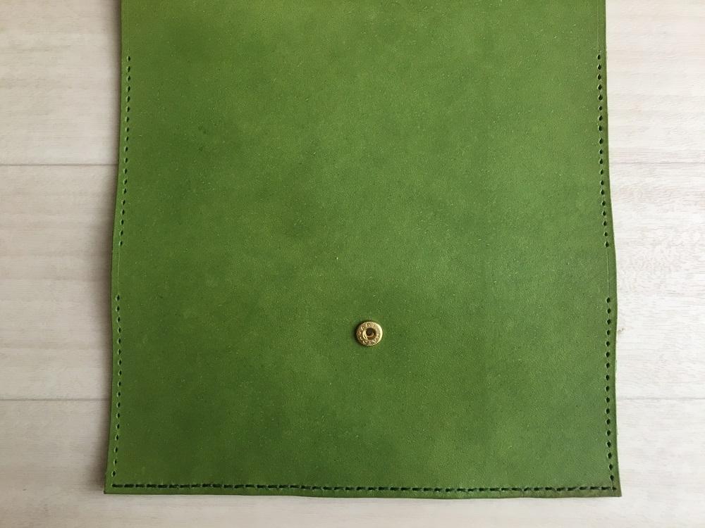 緑本ヌメ革の長財布42