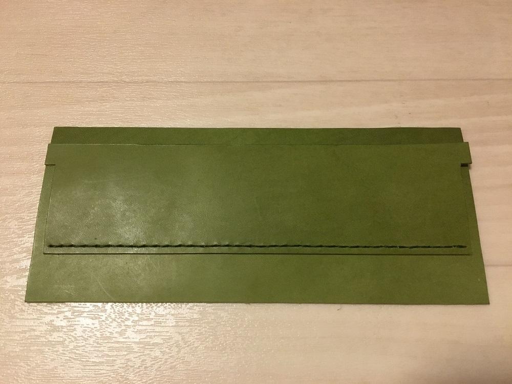 緑本ヌメ革の長財布18