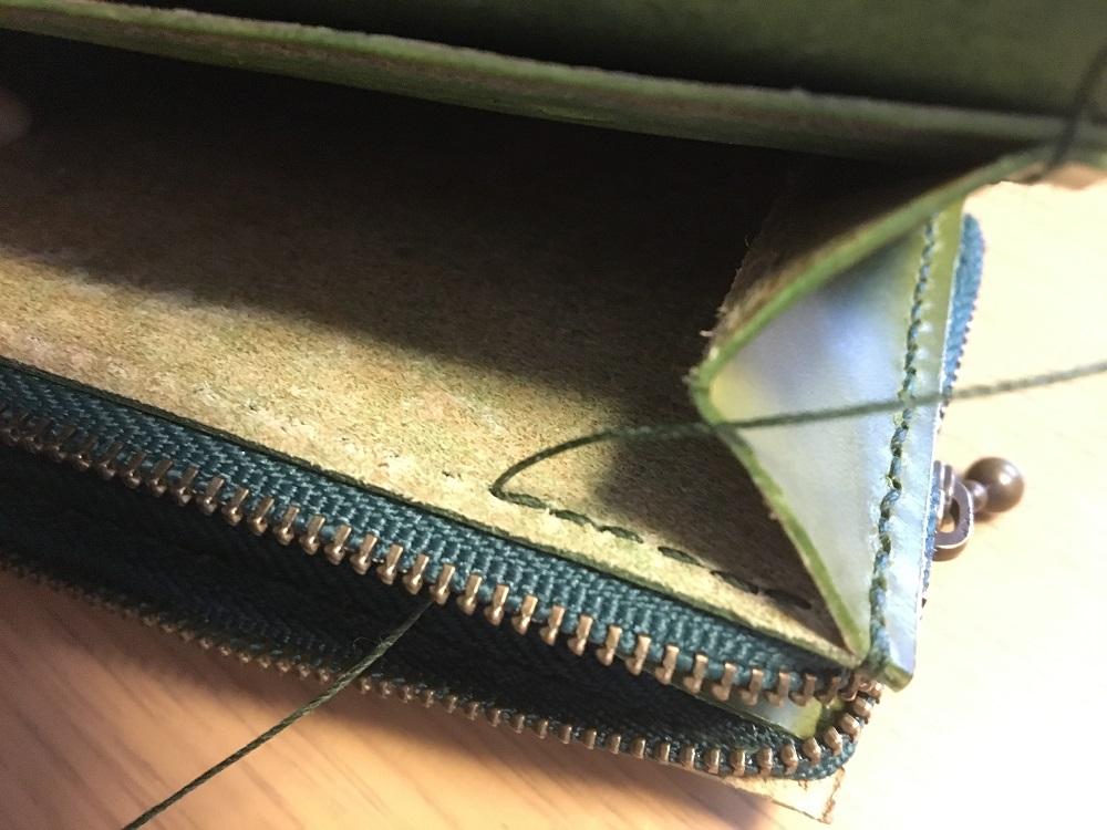 緑本ヌメ革の長財布72
