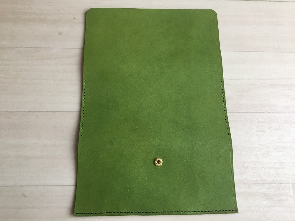 緑本ヌメ革の長財布39
