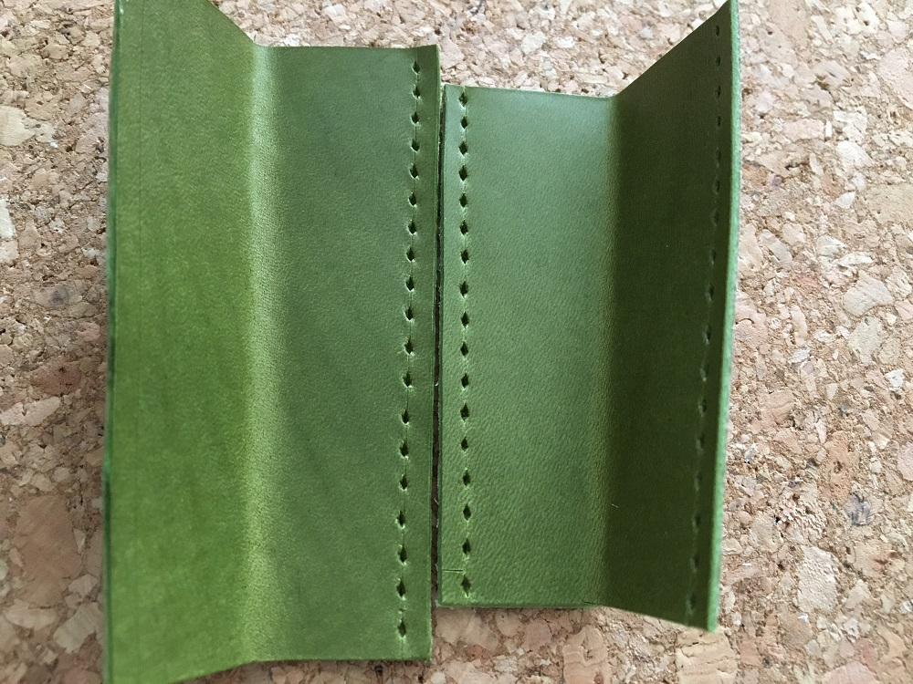 緑本ヌメ革の長財布27