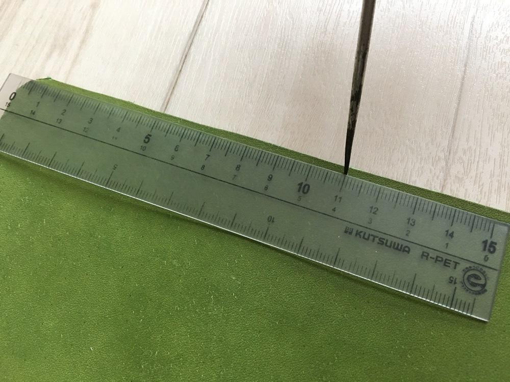 緑本ヌメ革の長財布37