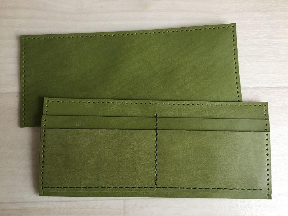 緑本ヌメ革の長財布33