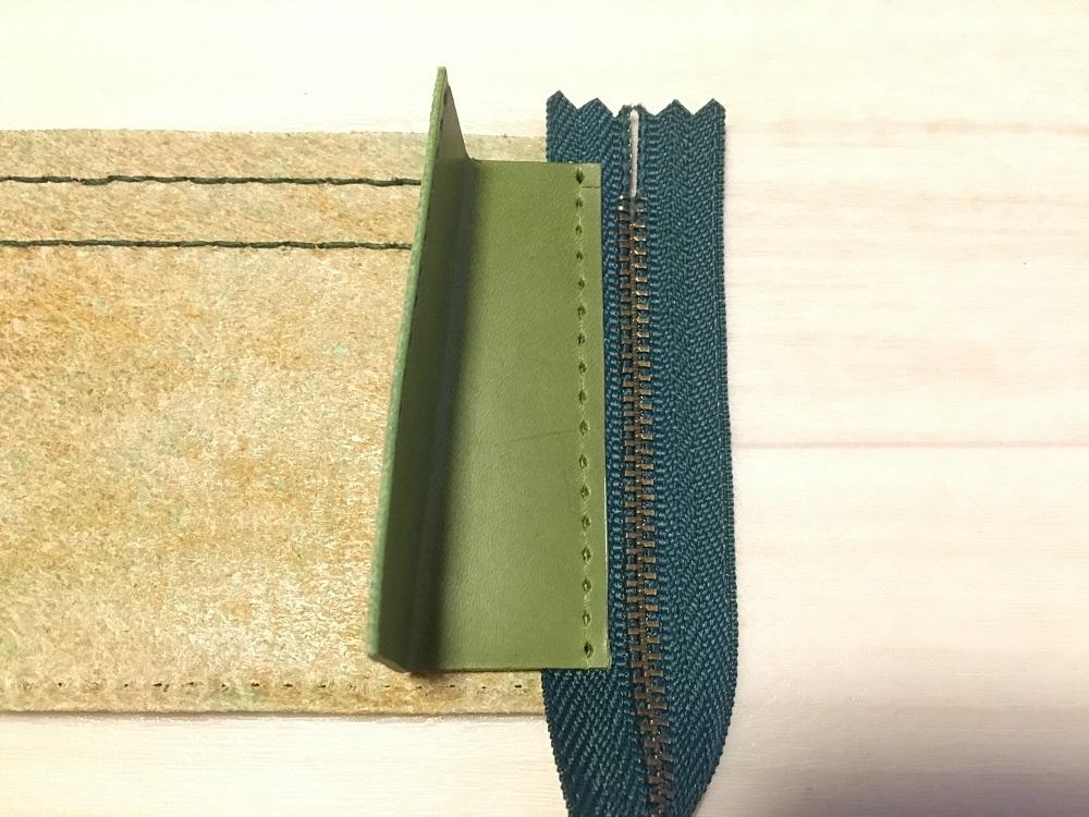 緑本ヌメ革の長財布52