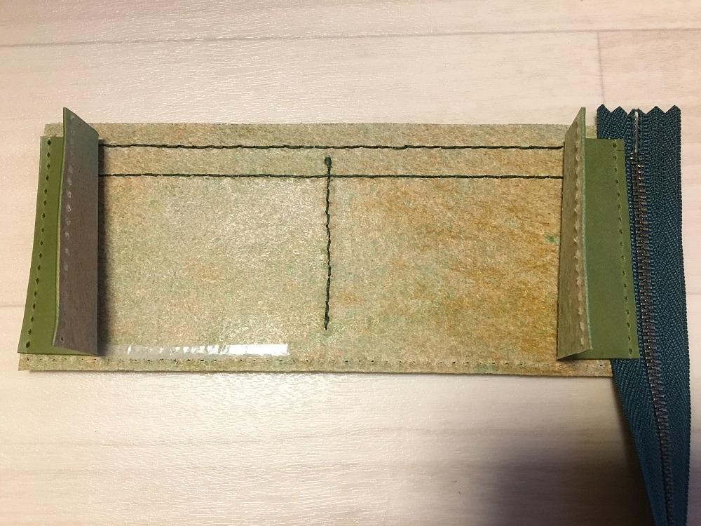 緑本ヌメ革の長財布53