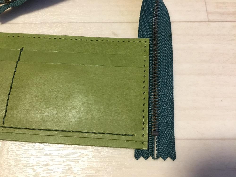 緑本ヌメ革の長財布51