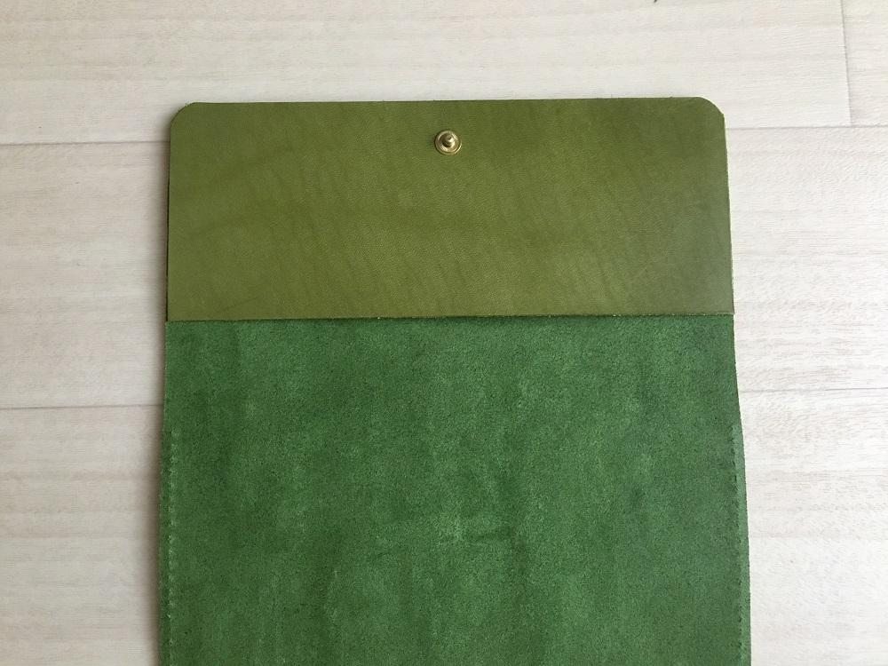 緑本ヌメ革の長財布43