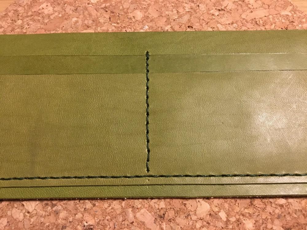 緑本ヌメ革の長財布15