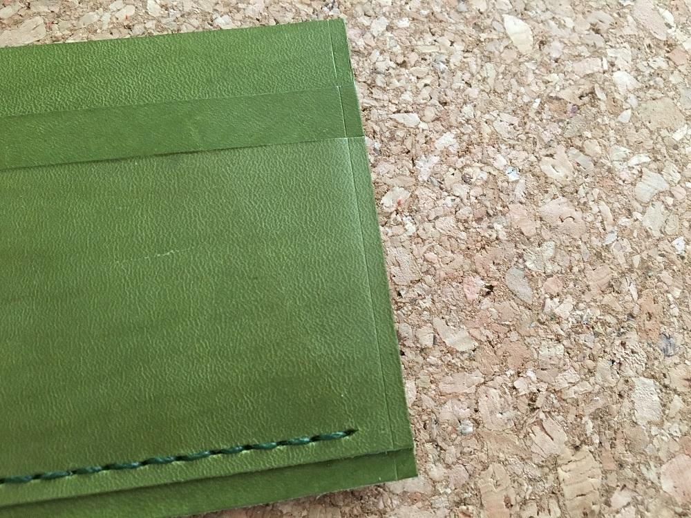緑本ヌメ革の長財布31