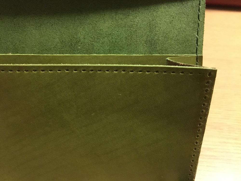 緑本ヌメ革の長財布66