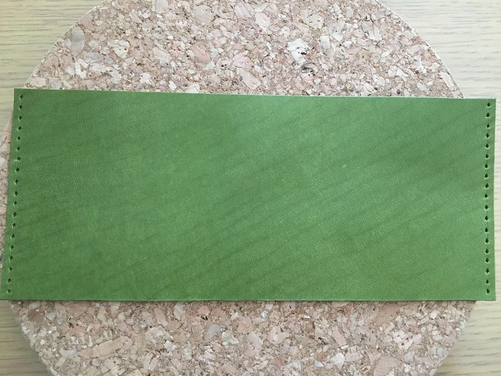緑本ヌメ革の長財布30