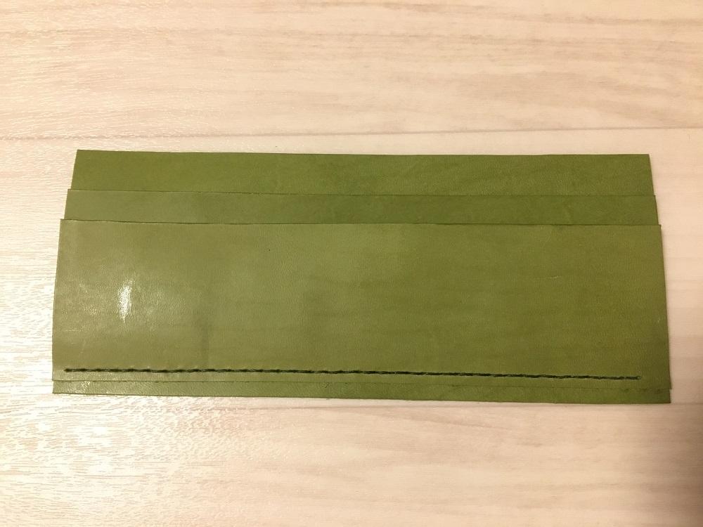 緑本ヌメ革の長財布11