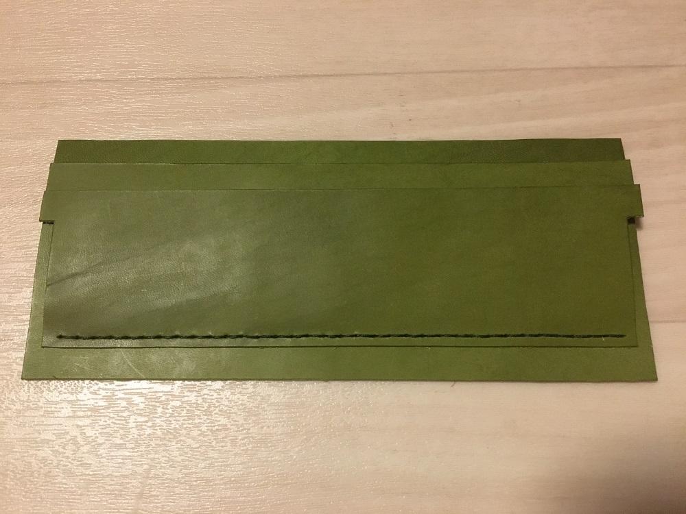 緑本ヌメ革の長財布20