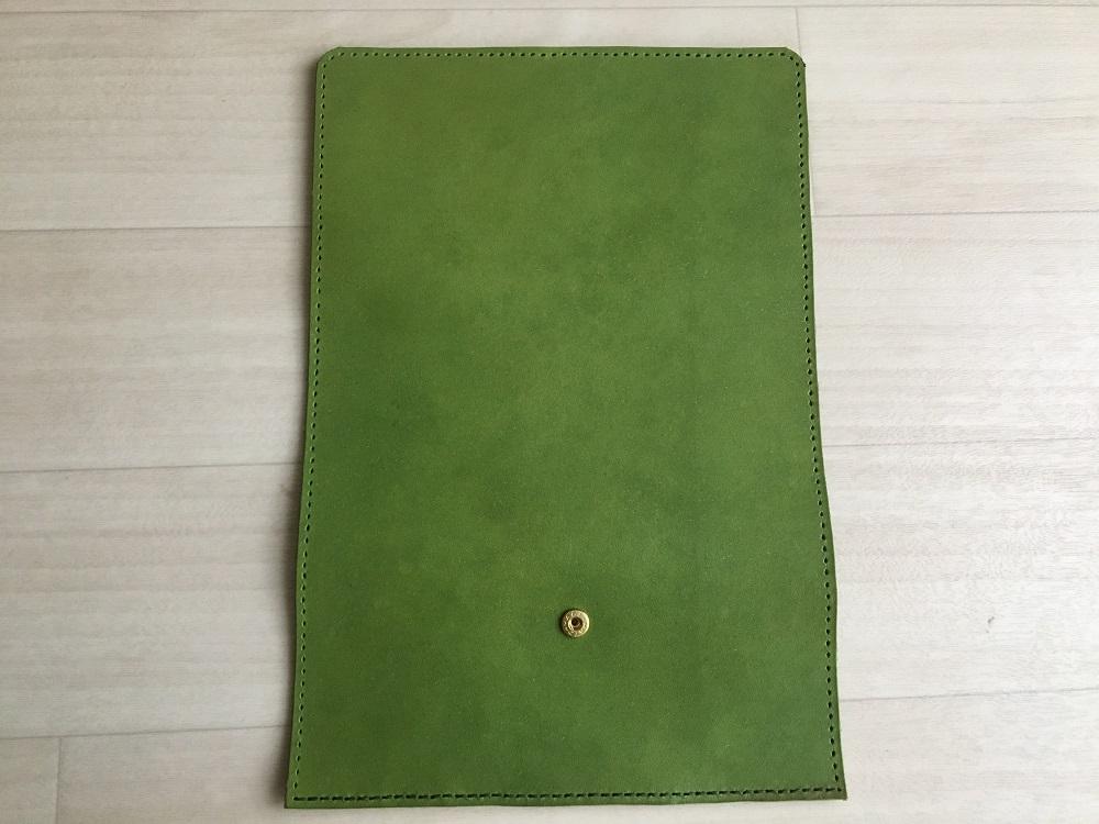 緑本ヌメ革の長財布44
