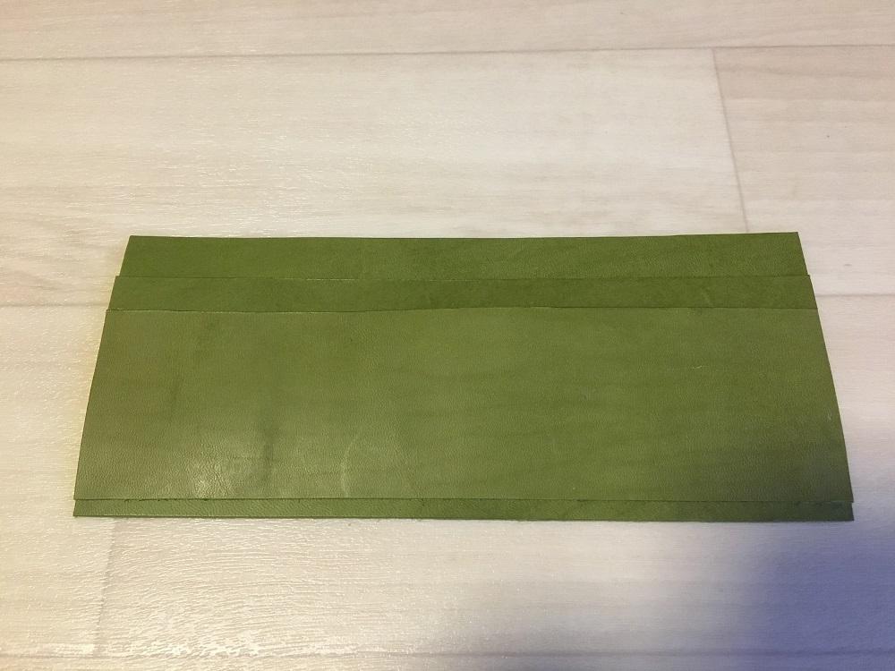 緑本ヌメ革の長財布10