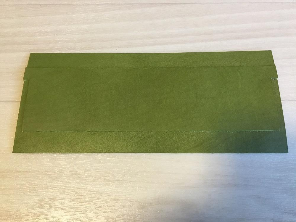 緑本ヌメ革の長財布6