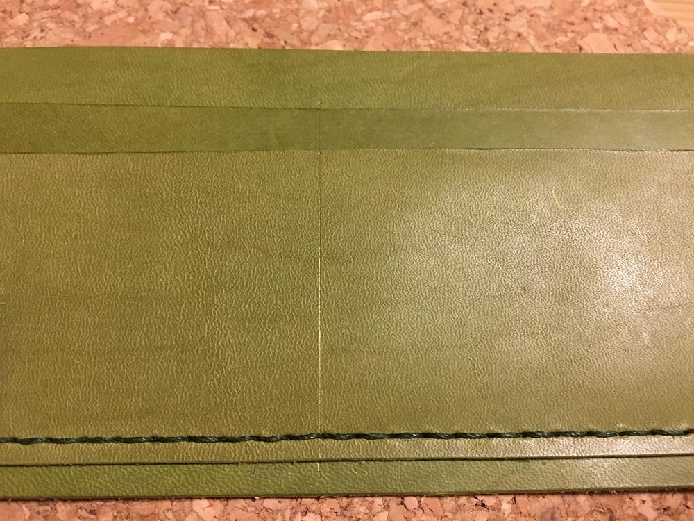 緑本ヌメ革の長財布12