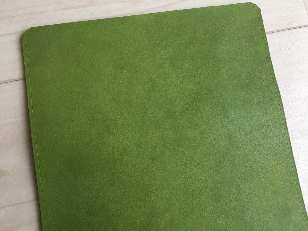 緑本ヌメ革の長財布34