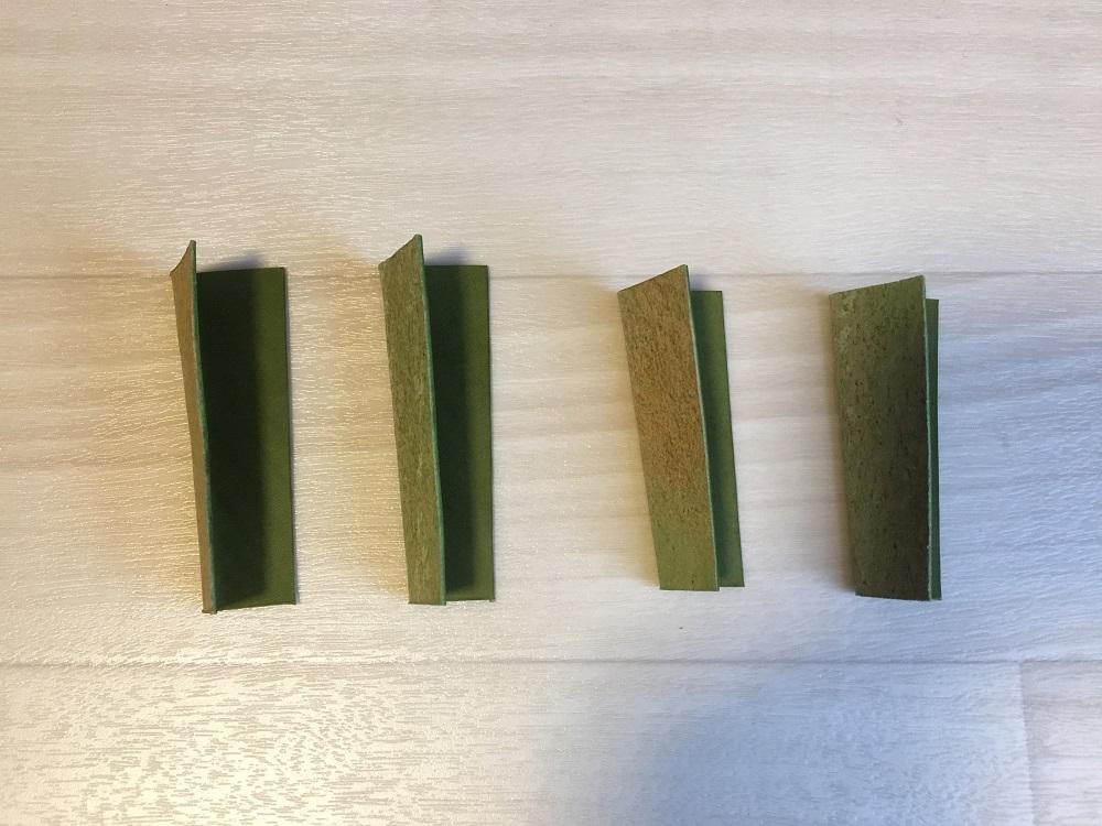 緑本ヌメ革の長財布4