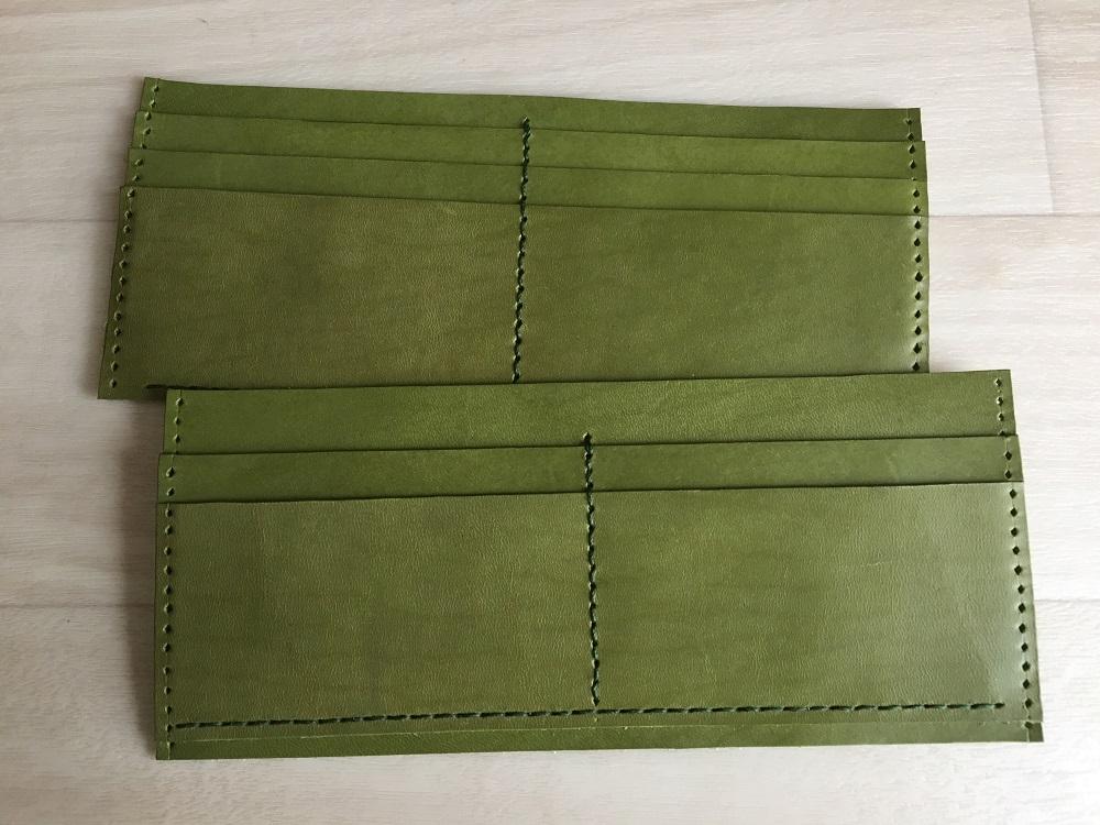 緑本ヌメ革の長財布32
