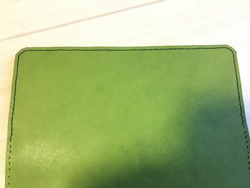 緑本ヌメ革の長財布48