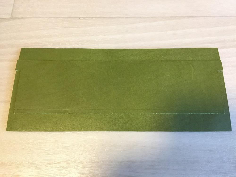 緑本ヌメ革の長財布7