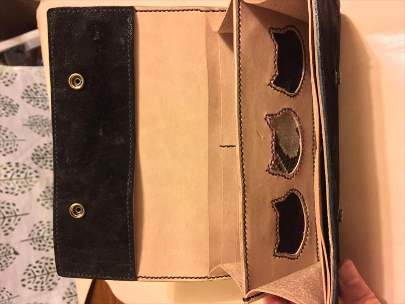 三つ折り長財布|本ヌメ革のレザークラフト作品 (2)_R