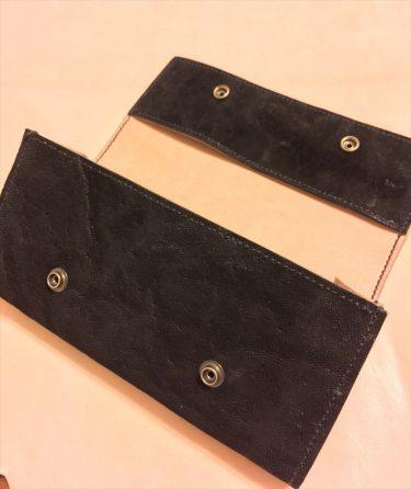 三つ折り長財布|和乃革レザークラフト作品事例