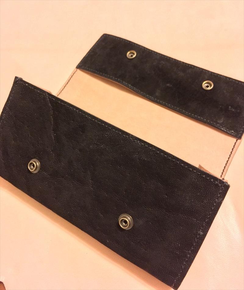 三つ折り長財布|本ヌメ革のレザークラフト作品 (3)_R