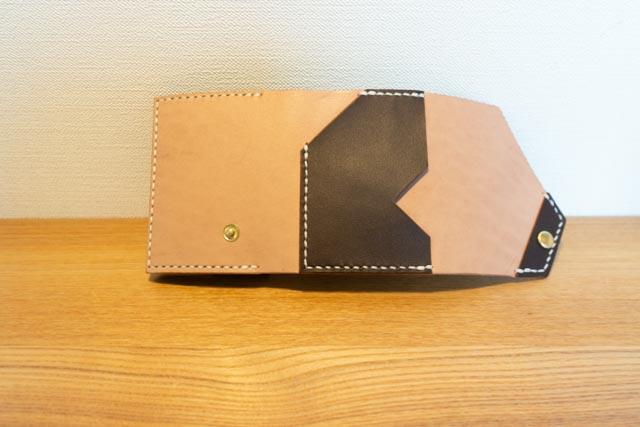 三つ折りミニマム財布|レザークラフト作品紹介 (1)