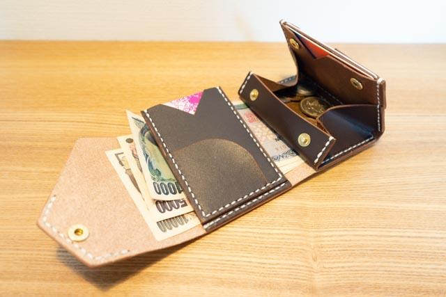 三つ折りミニマム財布|レザークラフト作品紹介 (2)