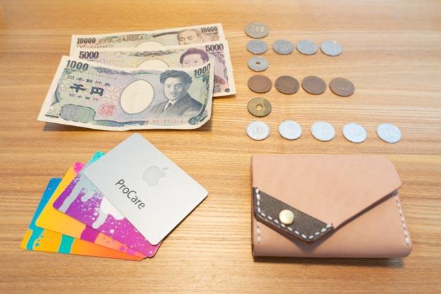 三つ折りミニマム財布|レザークラフト作品紹介 (3)
