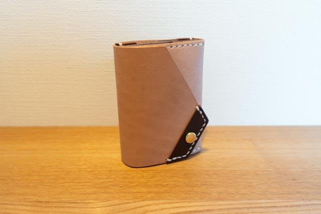 三つ折りミニマム財布|レザークラフト作品紹介 (4)