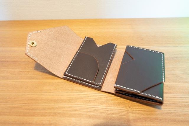 三つ折りミニマム財布|レザークラフト作品紹介 (5)