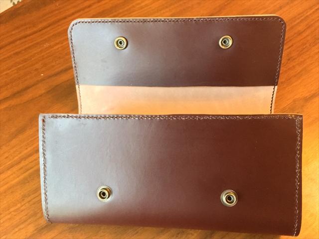 三つ折り長財布|レザークラフト作品 (3)_R