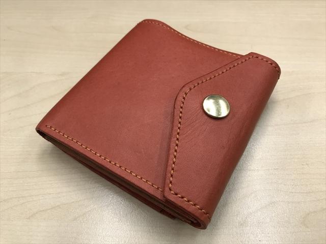 二つ折りがま口財布|レザークラフト作品 (1)_R