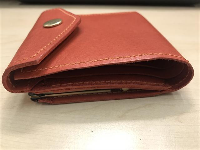 二つ折りがま口財布|レザークラフト作品 (2)_R
