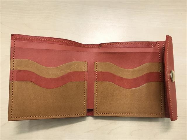 二つ折りがま口財布|レザークラフト作品 (3)_R