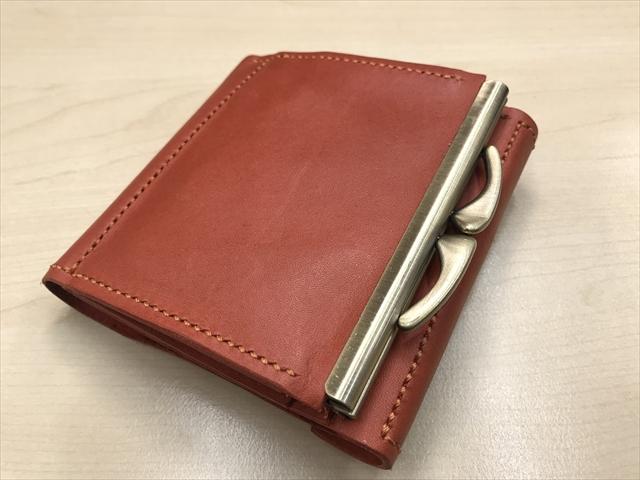 二つ折りがま口財布|レザークラフト作品 (4)_R
