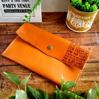 アコーディオンミニ財布と通帳ポーチ|レザークラフト作品