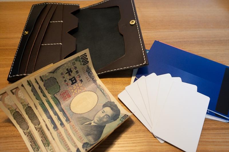 多機能長財布(通帳ケース)|レザークラフト作品紹介 (1)