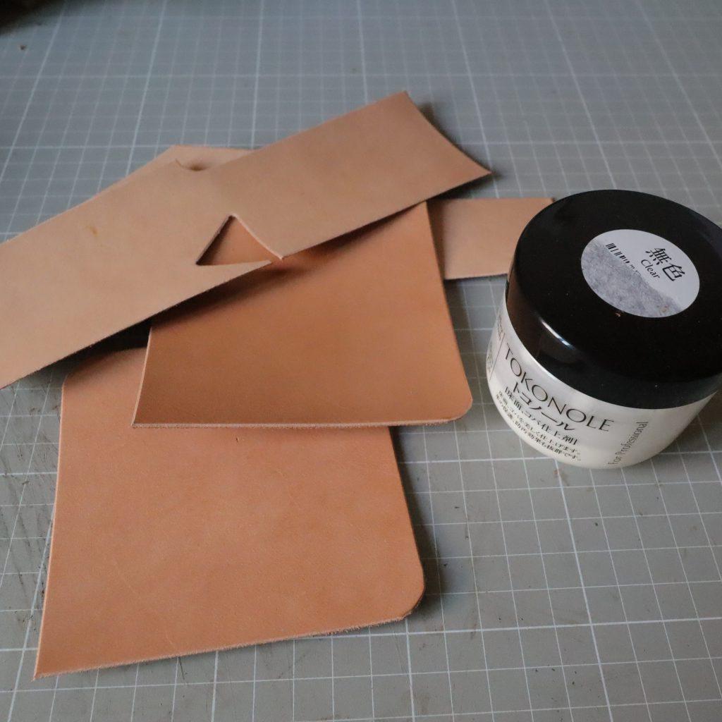 コバ磨き|L字ファスナーの小型財布|レザークラフト作品紹介
