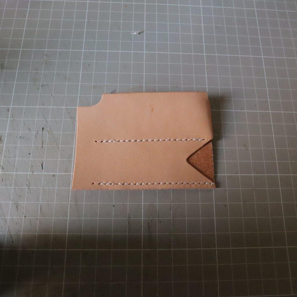 コインケースとキーケースつくり004|L字ファスナーの小型財布|レザークラフト作品紹介
