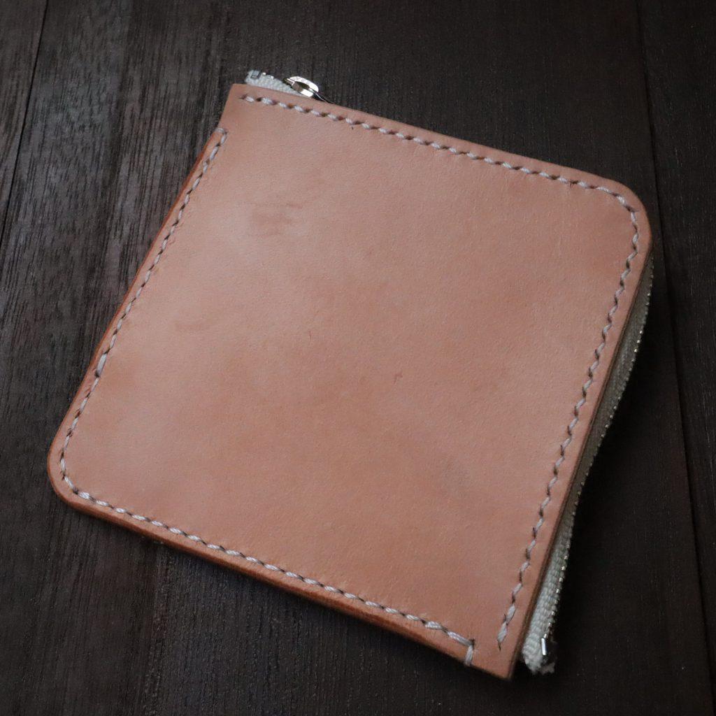 L字ファスナーの小型財布|レザークラフト作品紹介002