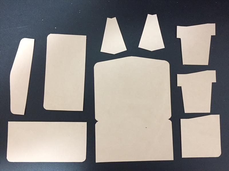本ヌメ革生成りの財布|レザークラフト作品 (2)