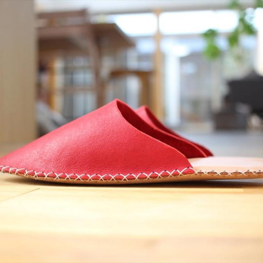 革のスリッパの作り方【レザークラフト】_ステッチ